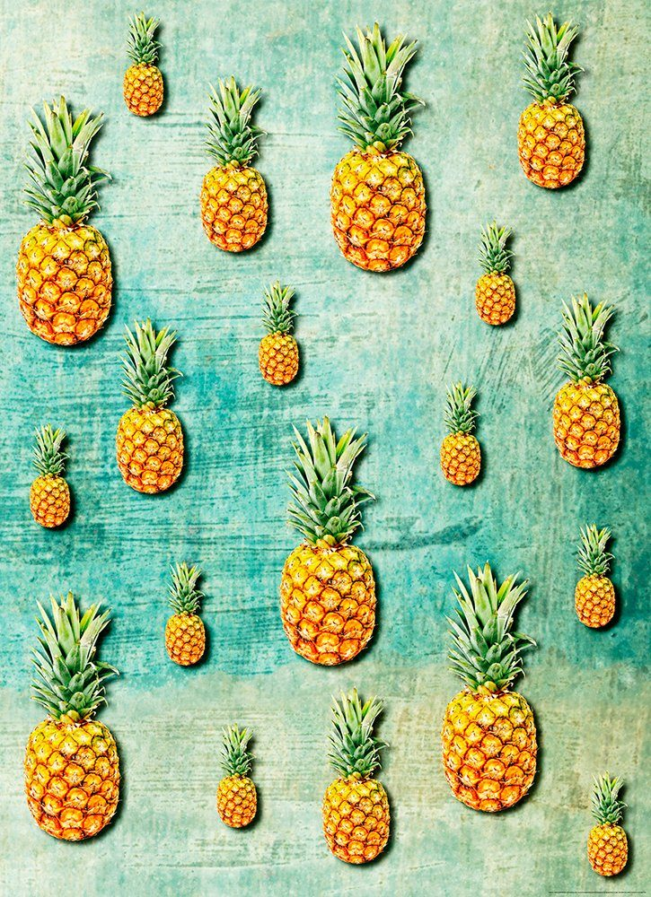 IDEALDECOR Fototapete »Tropische Ananas«, Vlies, 2 Bahnen, 183 x 254 cm