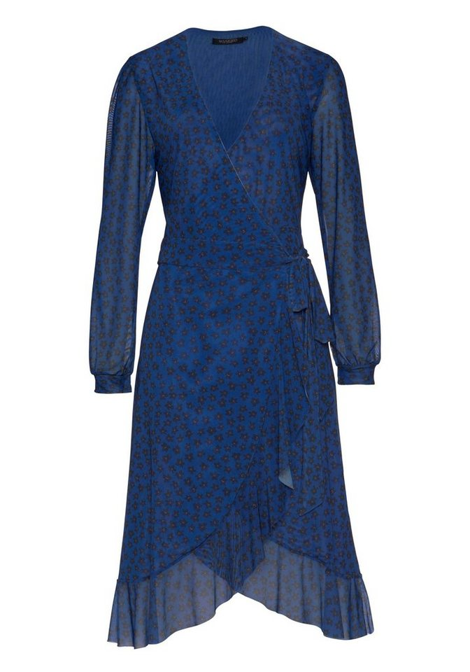 Damen SOAKED IN LUXURY Wickelkleid mit floralem Muster schwarz | 05713344477951