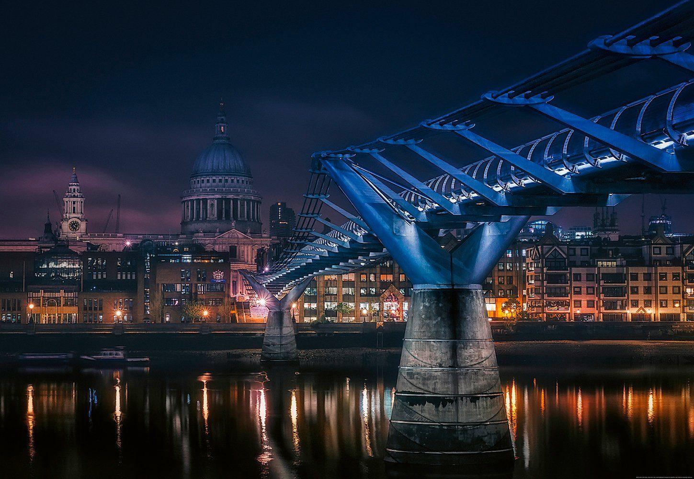 IDEALDECOR Fototapete »London Vereinigtes Königreich«, BlueBack, 4 Bahnen, 368 x 254 cm