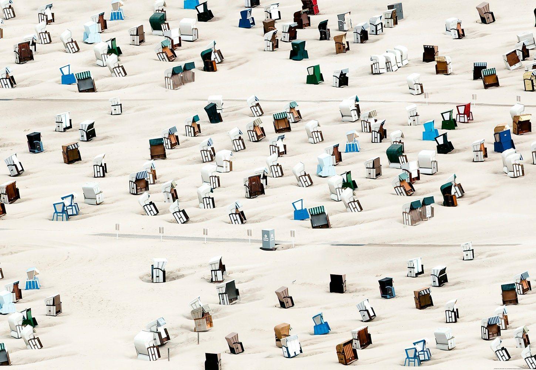 Fototapete »Strandstuhl«, BlueBack, 4 Bahnen, 368 x 254 cm