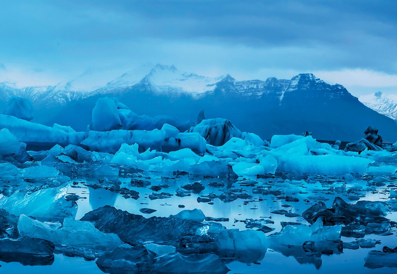 IDEALDECOR Fototapete »Island«, BlueBack, 4 Bahnen, 368 x 254 cm