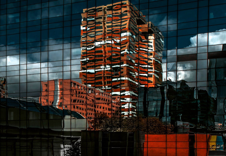 IDEALDECOR Fototapete »Abstrakte Architektur«, BlueBack, 4 Bahnen, 368 x 254 cm
