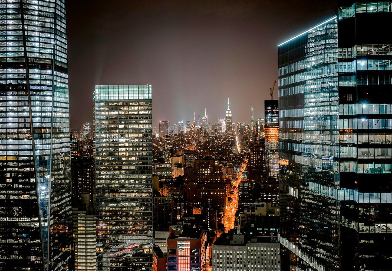 IDEALDECOR Fototapete »Freiheitsturm New York City«, BlueBack, 4 Bahnen, 368 x 254 cm