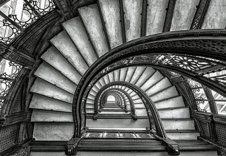 IDEALDECOR Fototapete »Alte Treppen«, BlueBack, 4 Bahnen, 368 x 254 cm