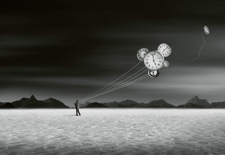 IDEALDECOR Fototapete »Burning Man«, BlueBack, 4 Bahnen, 368 x 254 cm