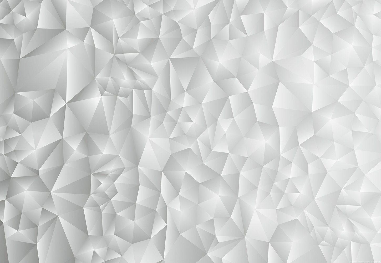 IDEALDECOR Fototapete »3D Dreiecke Weiß«, Vlies, 4 Bahnen, 368 x 254 cm