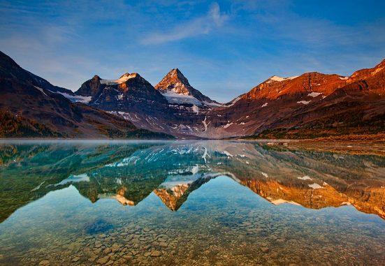 IDEALDECOR Fototapete »Magog See Kanada«, Vlies, 4 Bahnen, 368 x 254 cm