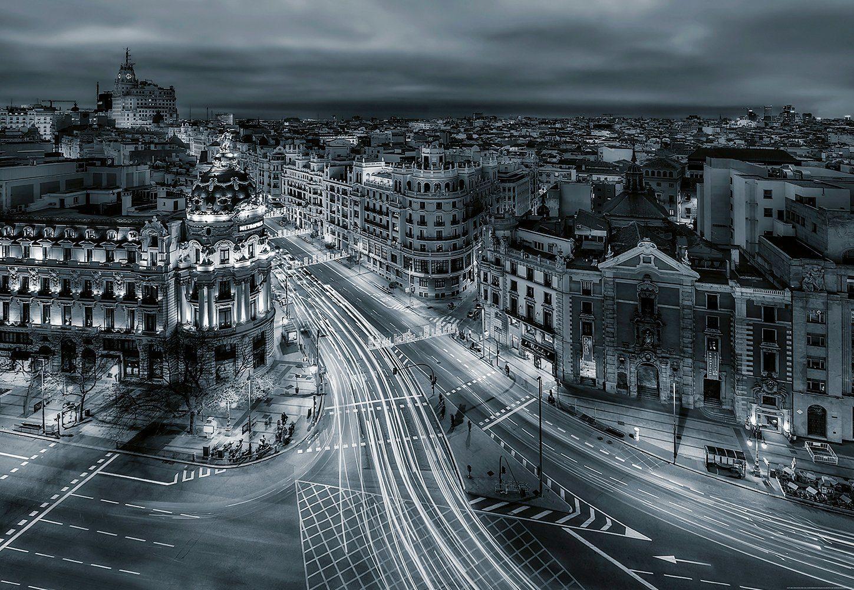 IDEALDECOR Fototapete »Madrid«, Vlies, 4 Bahnen, 368 x 254 cm