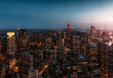 IDEALDECOR Fototapete »New York City USA«, Vlies, 4 Bahnen, 368 x 254 cm