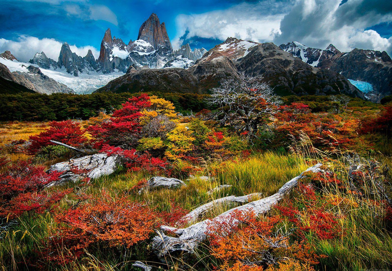 IDEALDECOR Fototapete »El Chalten Argentinien«, Vlies, 4 Bahnen, 368 x 254 cm