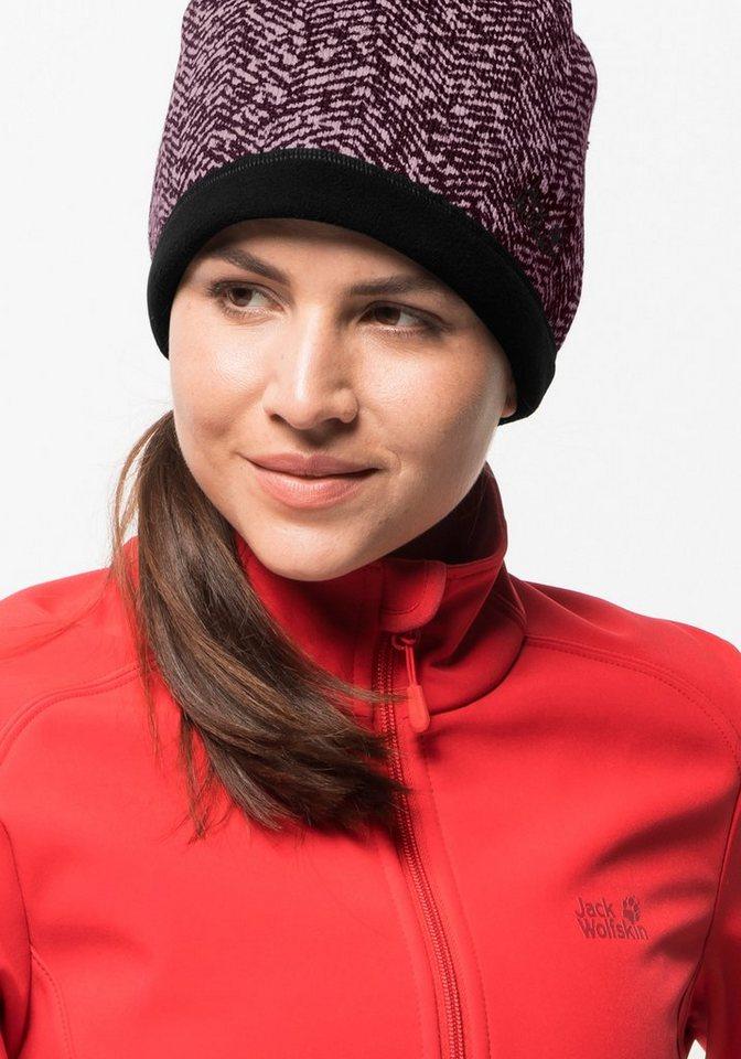Jack Wolfskin Skimütze »BELLEVILLE CROSSING CAP WOMEN« | Accessoires > Caps | Rot | Polyester | Jack Wolfskin