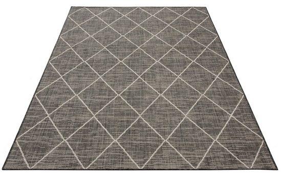 Teppich »Dubai«, Home affaire, rechteckig, Höhe 3 mm, Flachgewebe, Rauten Design, Wohnzimmer