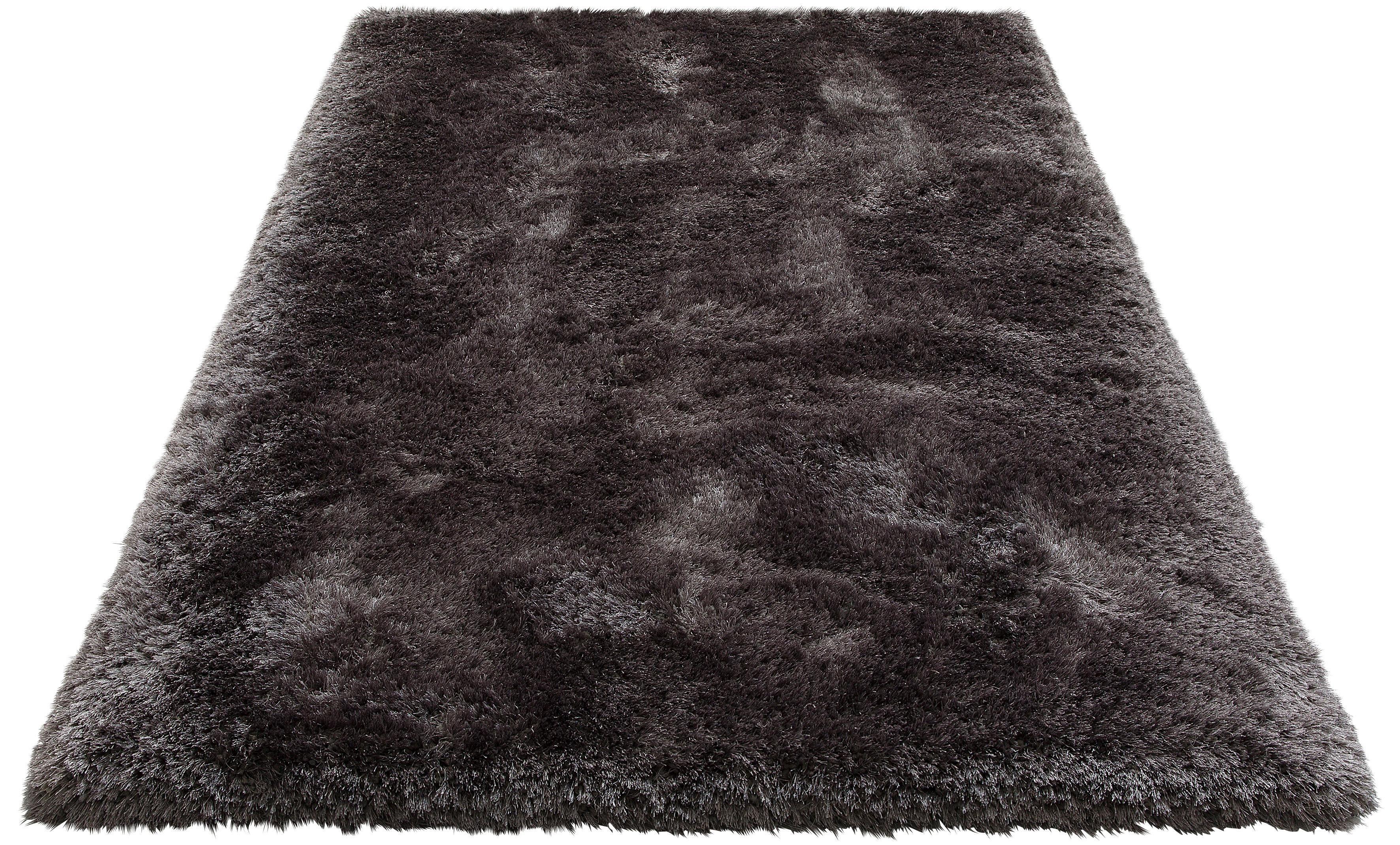 Hochflor-Teppich »Lasse«, rechteckig, Höhe 78 mm, Besonders weich durch Microfaser