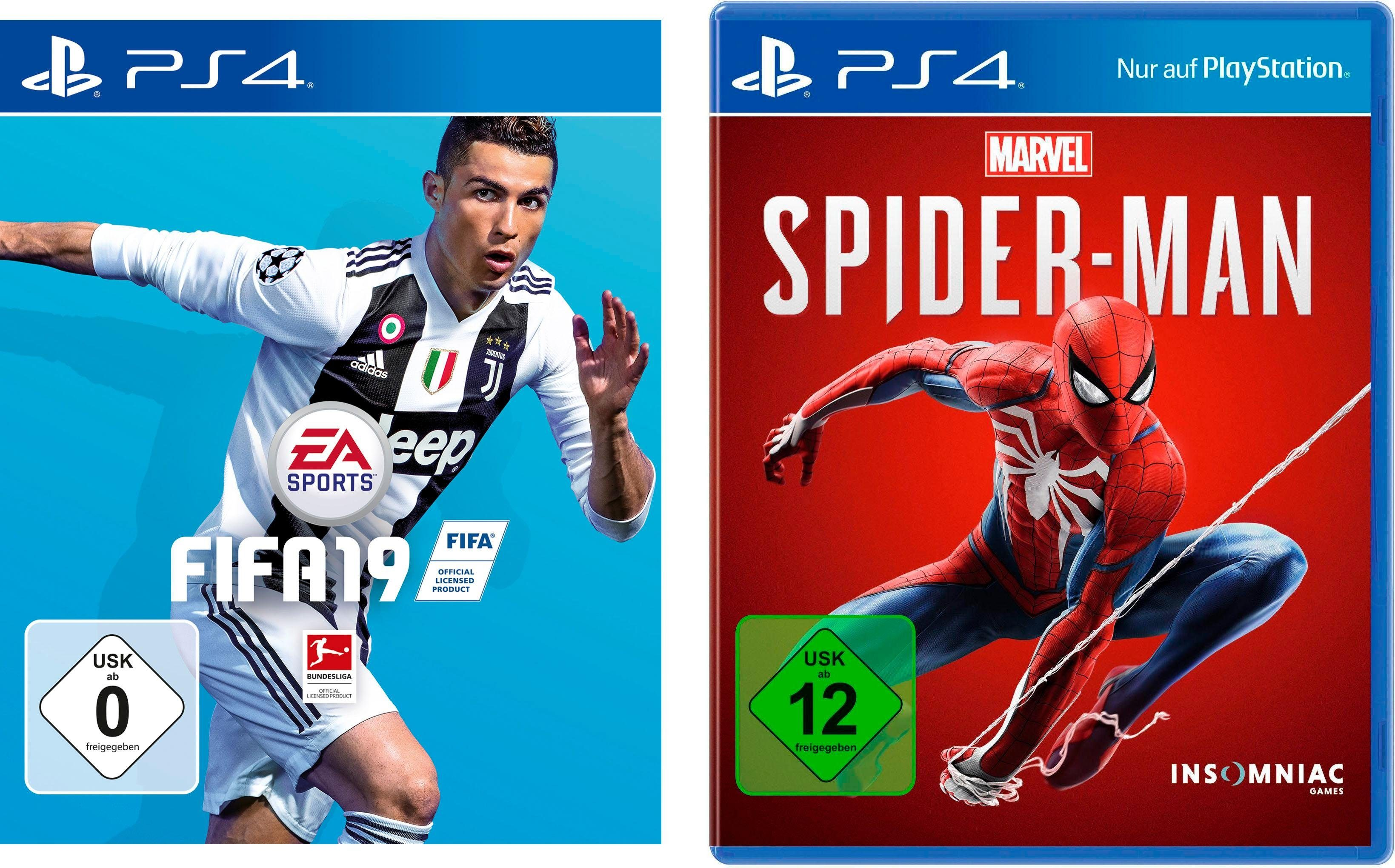 FIFA 19 + Marvel´s Spider-Man Doppelpack PlayStation 4