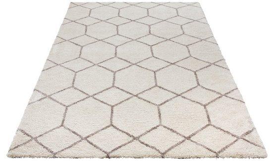 Hochflor-Teppich »Lasar«, my home, rechteckig, Höhe 25 mm, Besonders weich durch Microfaser