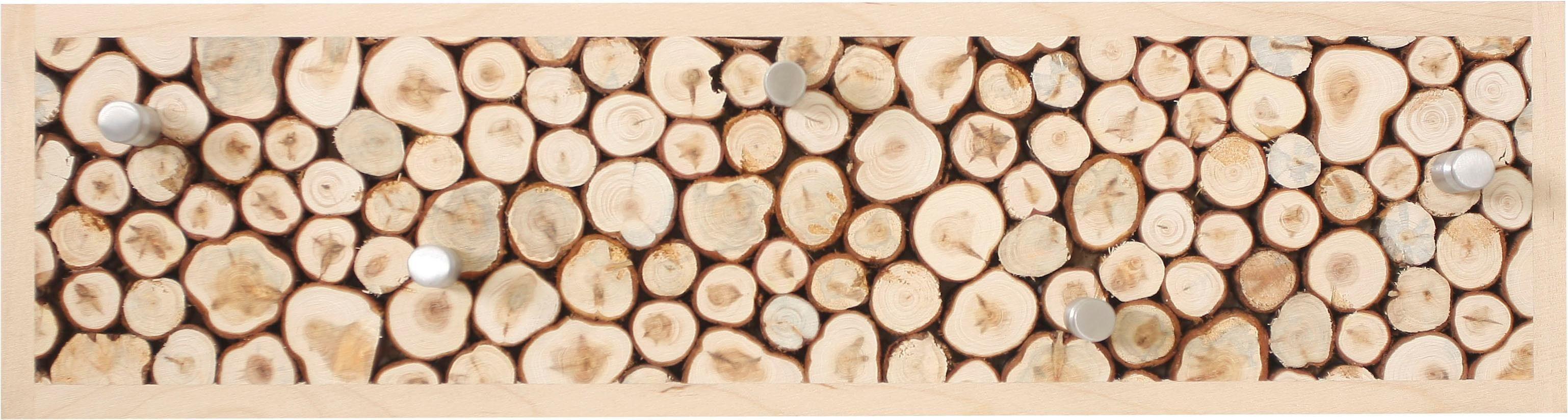 Woodman Garderobenpaneel »Kamsti« mit 5 Haken