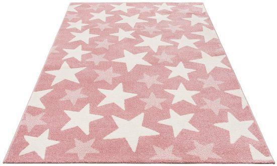 Kinderteppich »Stars«, Lüttenhütt, rechteckig, Höhe 13 mm, Pastell-Farben