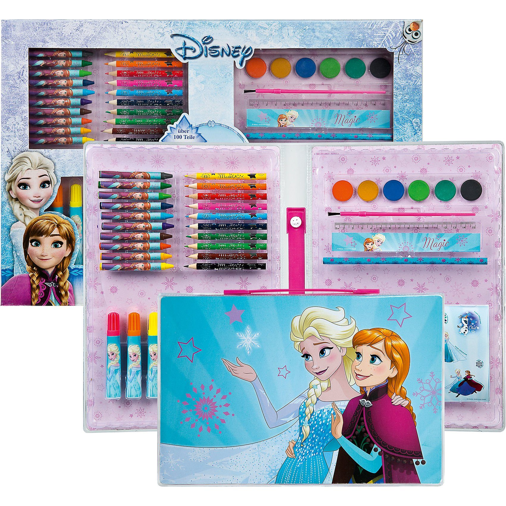 UNDERCOVER Malkoffer XXL Disney Die Eiskönigin, über 100 Teile