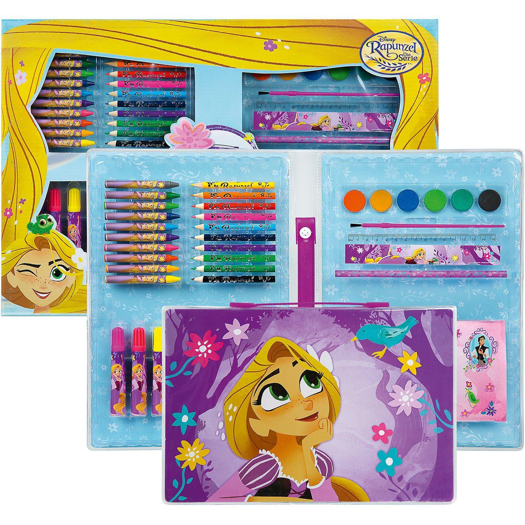 UNDERCOVER Malkoffer XXL Disney Rapunzel, über 100 Teile