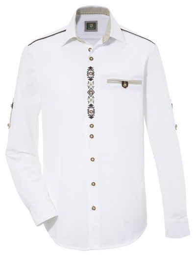 OS-Trachten Trachtenhemd Herren, im Landhausstil