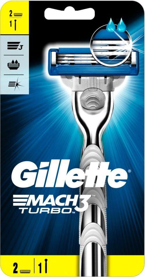 Gillette, »Mach3 Turbo«, Rasierer + 2 Klingen, 3-tlg.