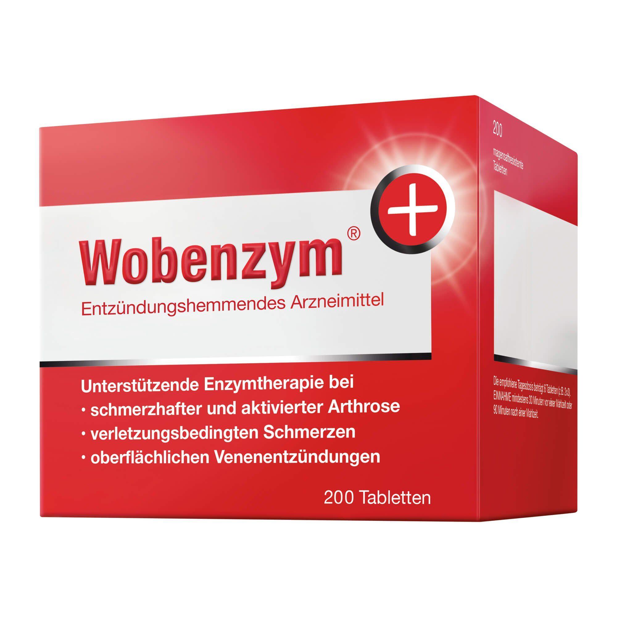 Wobenzym magensaftresistente Tabletten, 200 St