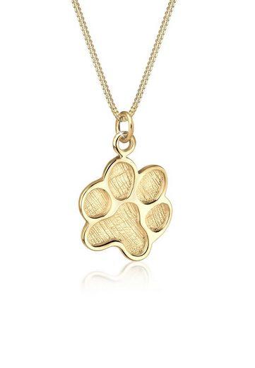 Elli Elli, Halskette, Pfote, Symbol, Hund, Tierfreund, vergoldet