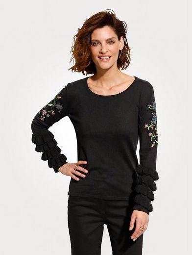 Mona Pullover mit floraler Stickerei