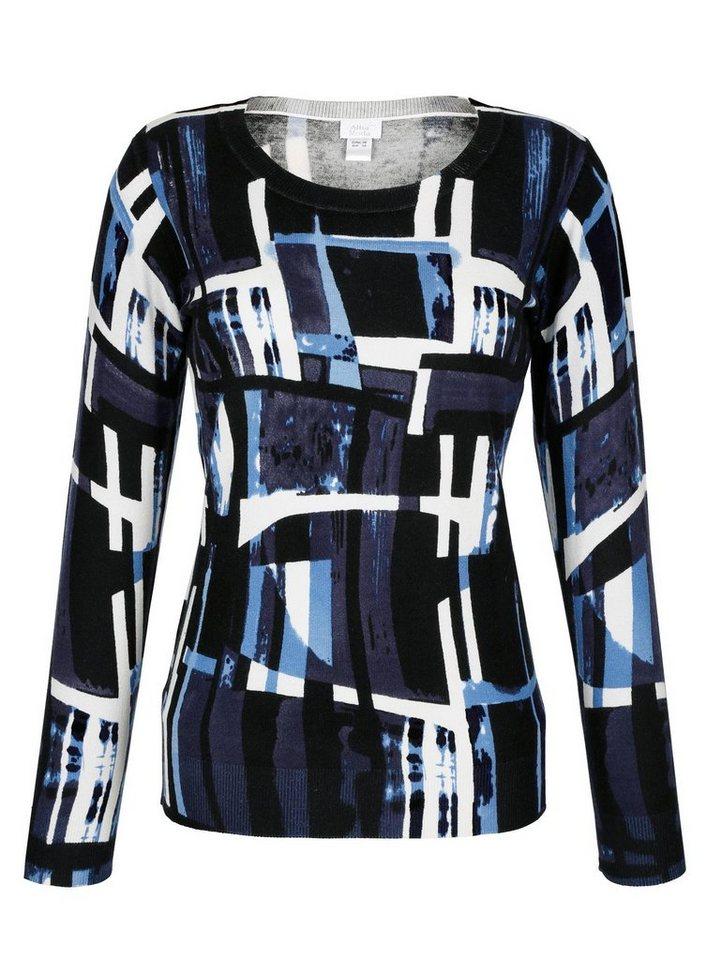 Alba Moda Pullover mit exklusivem Print