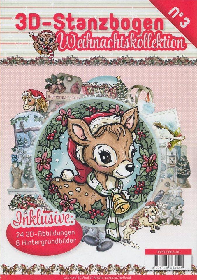 """3D-Stanzbogenbuch """"Weihnachtszeit"""" 32 Blatt kaufen"""