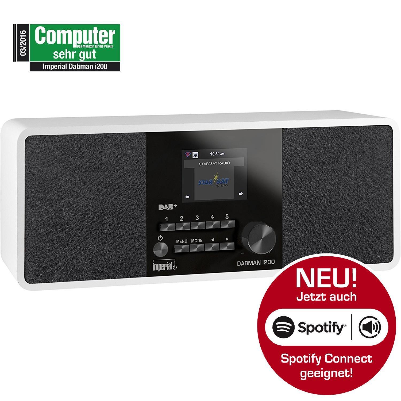 Digitalradio für DAB+ & Internetradio (WLAN, UPnP, Spotify) »DABMAN i200«
