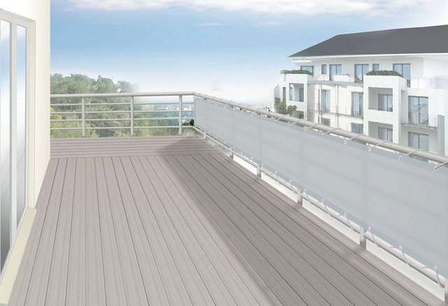 FLORACORD Balkonsichtschutz , BxH: 500x75 cm, silbergrau | Garten > Balkon > Sichtschutz | Polyester | Floracord