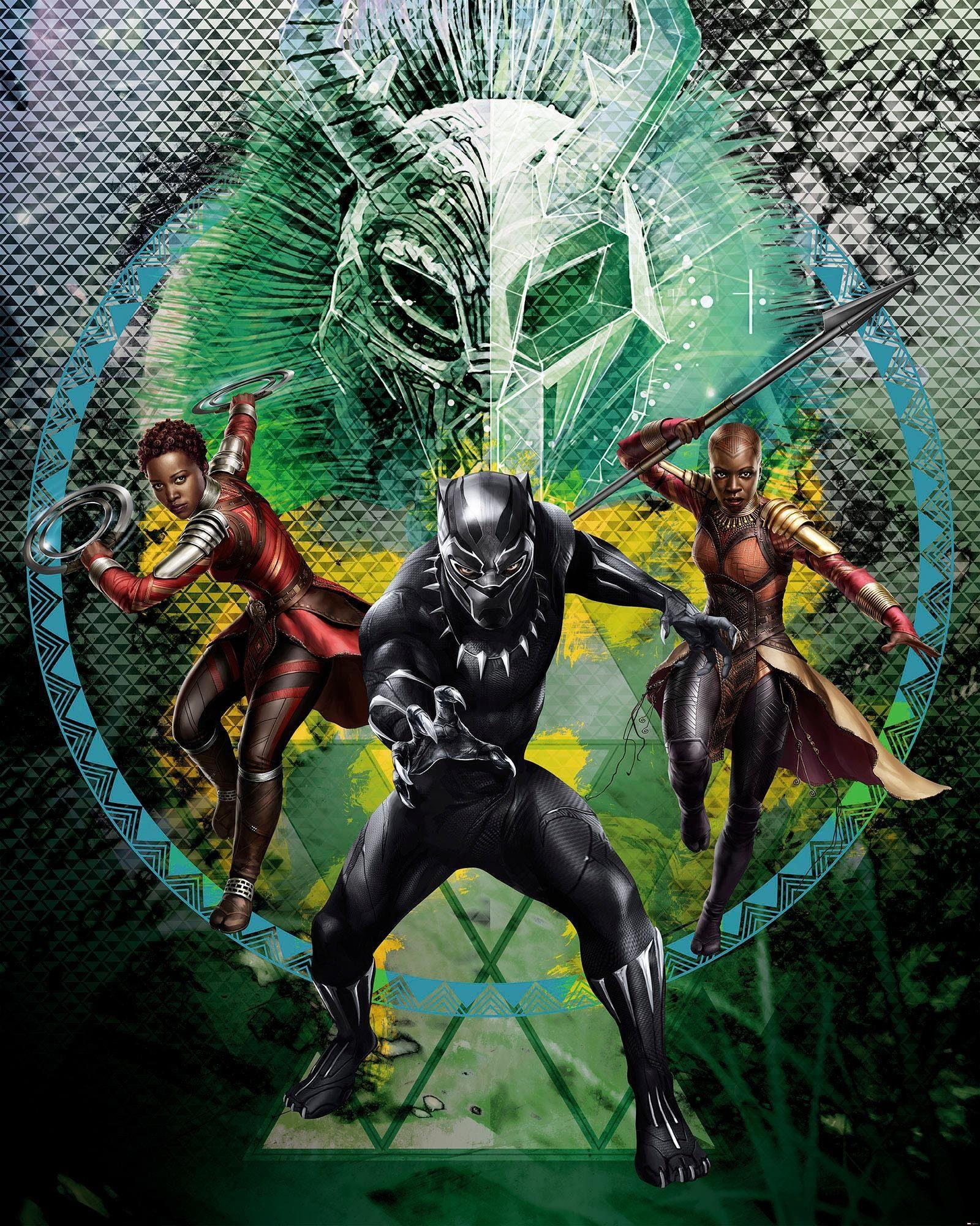 Komar Fototapete »Black Panther Collage«, 200/250 cm