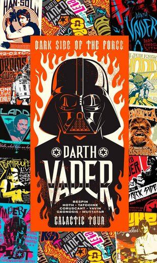 Vliestapete »Star Wars Rock On Posters«, Comic