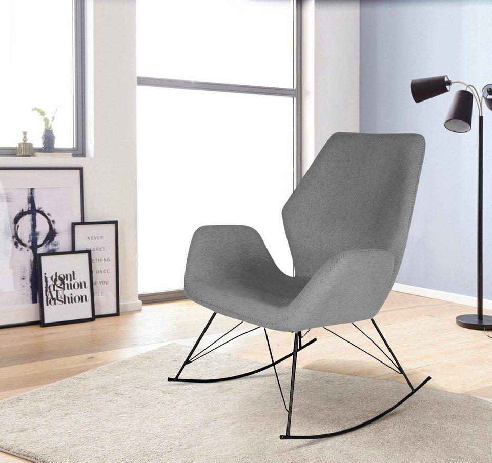 schaukelstuhl gestell aus metall online kaufen otto