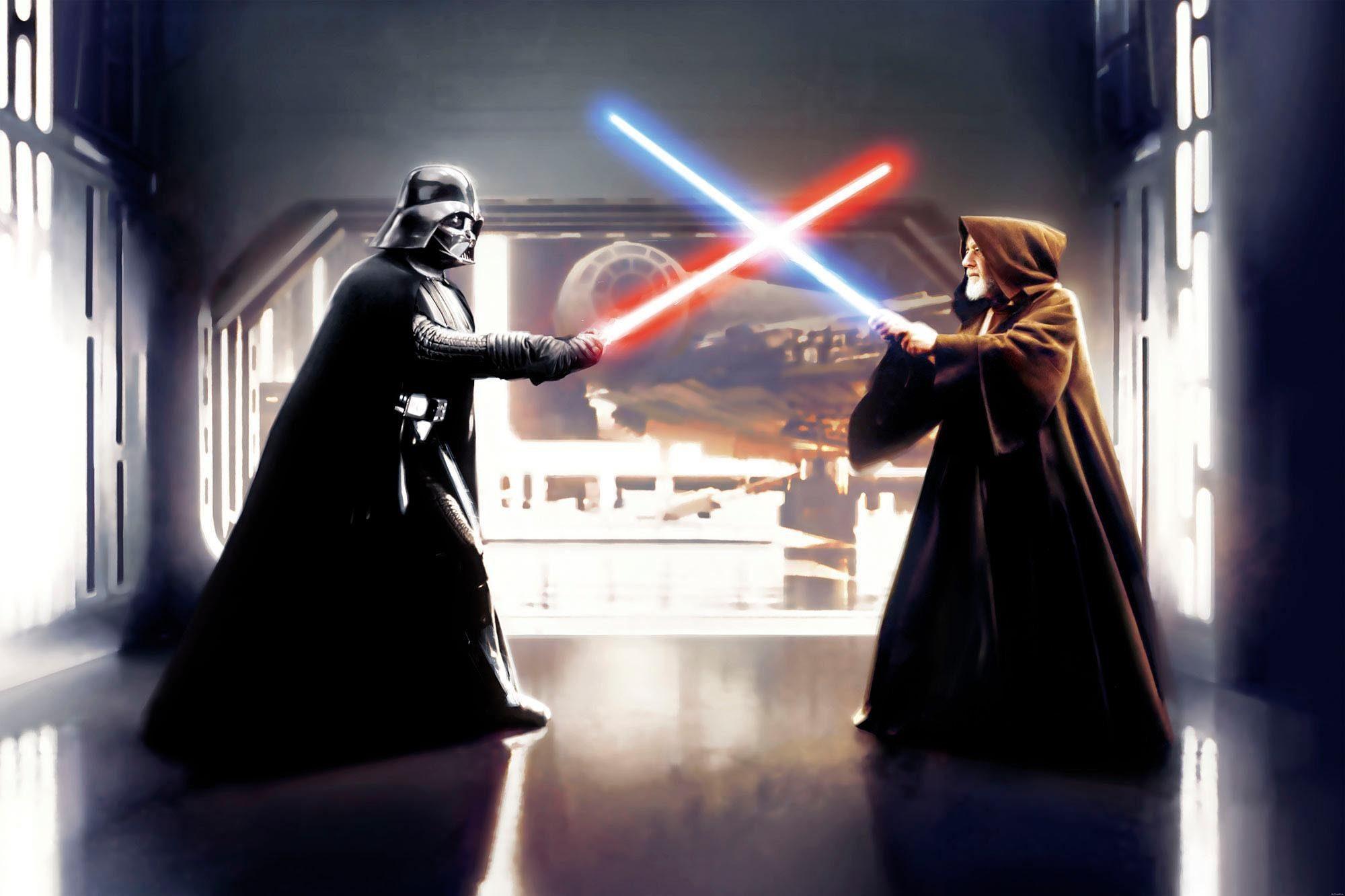 Komar Fototapete »Star Wars Vader vs. Kenobi«, 300/200 cm