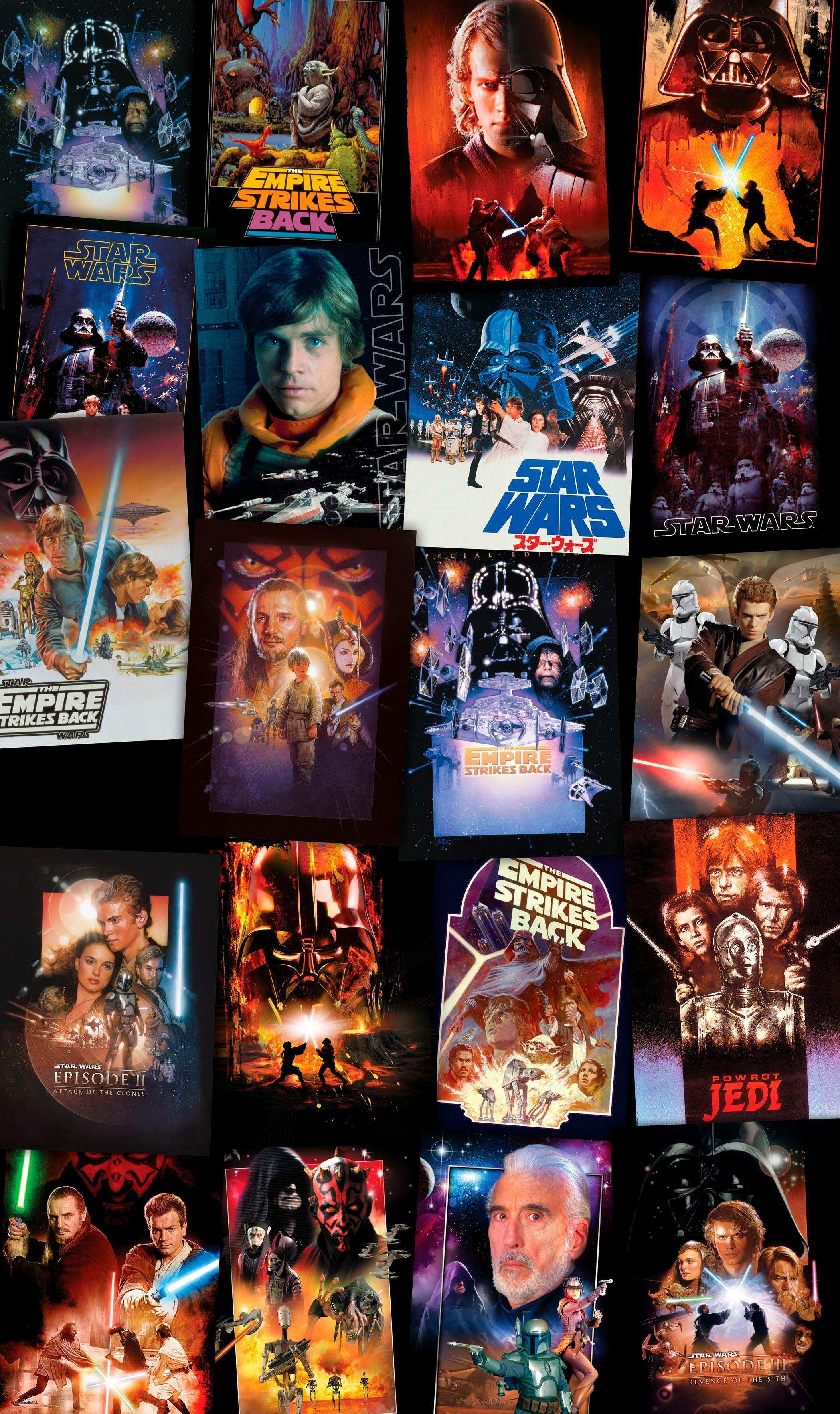Komar Fototapete »Star Wars Posters Collage«, 120/200 cm