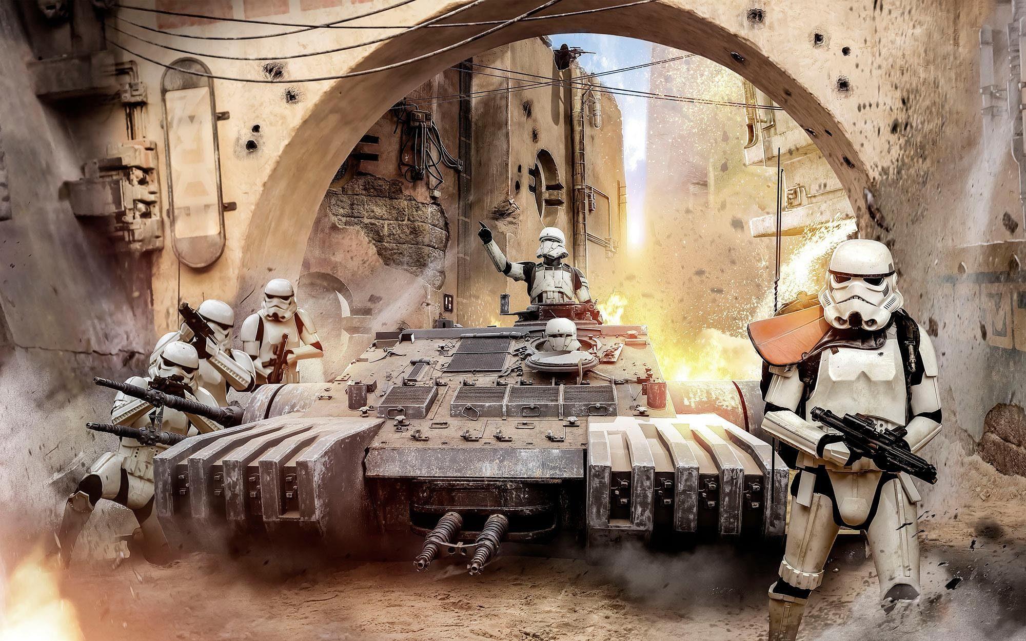 Komar Fototapete »Star Wars Tanktrooper«, 400/250 cm
