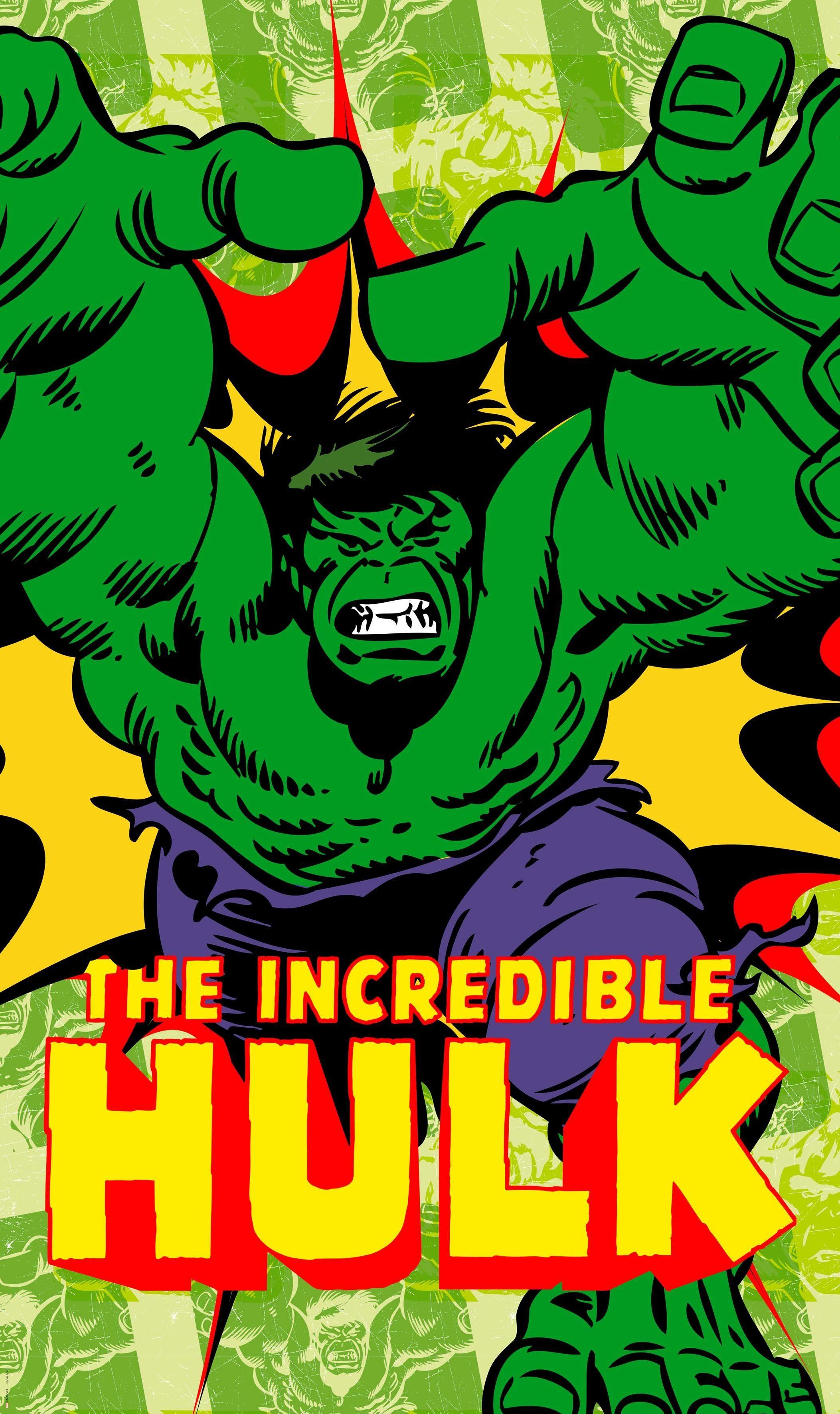 Komar Fototapete »Marvel Comics The Incredible Hulk«, 120/200 cm