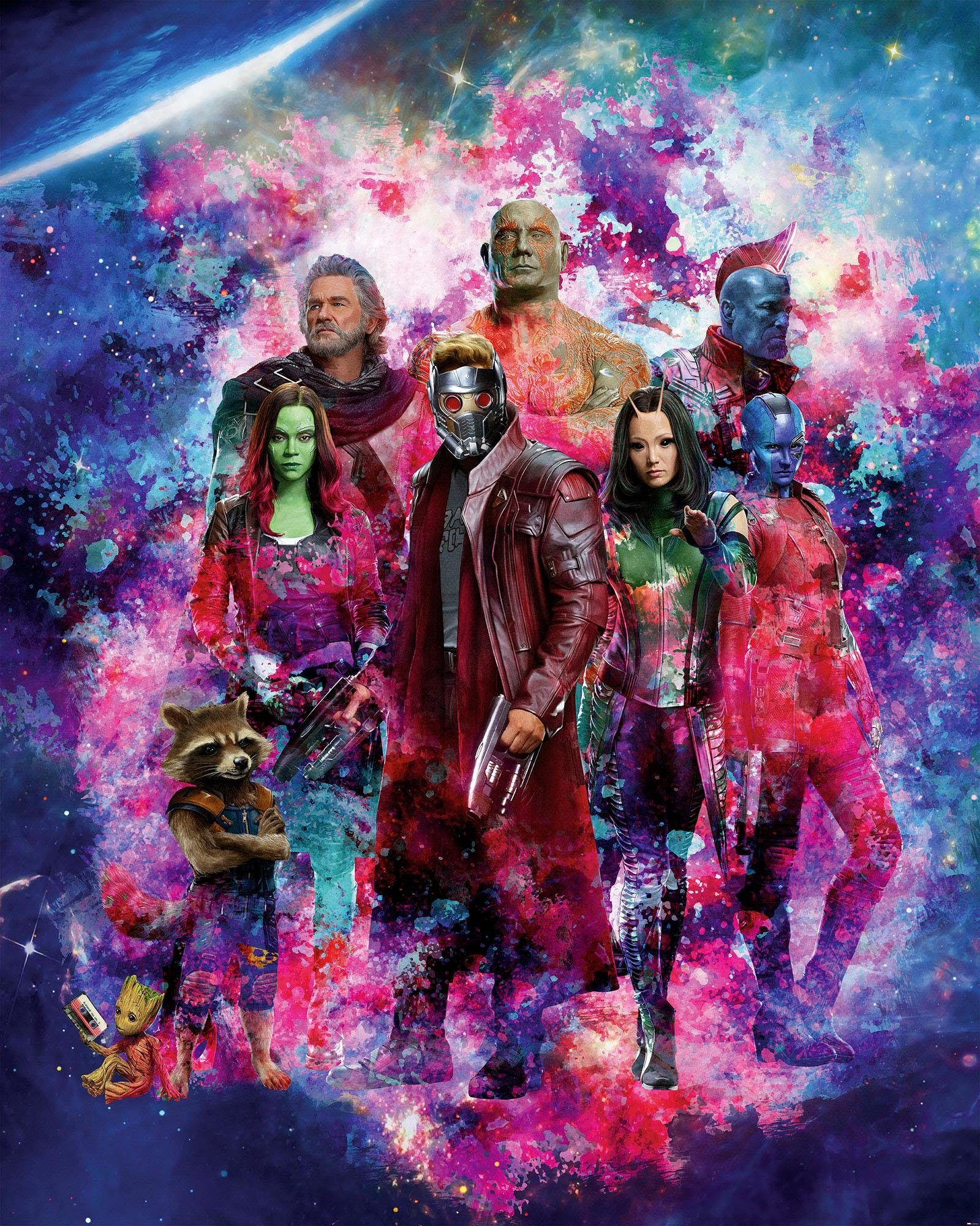 Komar Fototapete »Guardians of the Galaxy Collage«, 200/250 cm