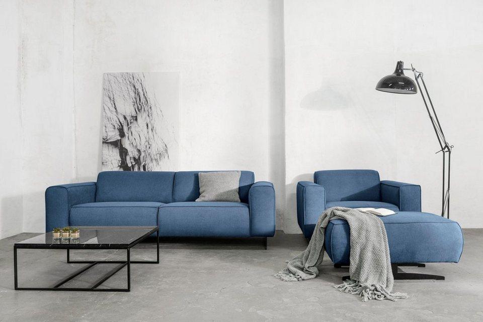 places of style 3 sitzer murcia mit federkern keder und besonderen metallf en online kaufen. Black Bedroom Furniture Sets. Home Design Ideas