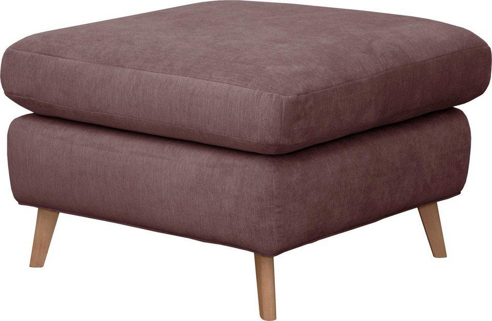 home affaire hocker lea mit kedernaht und holzf en. Black Bedroom Furniture Sets. Home Design Ideas