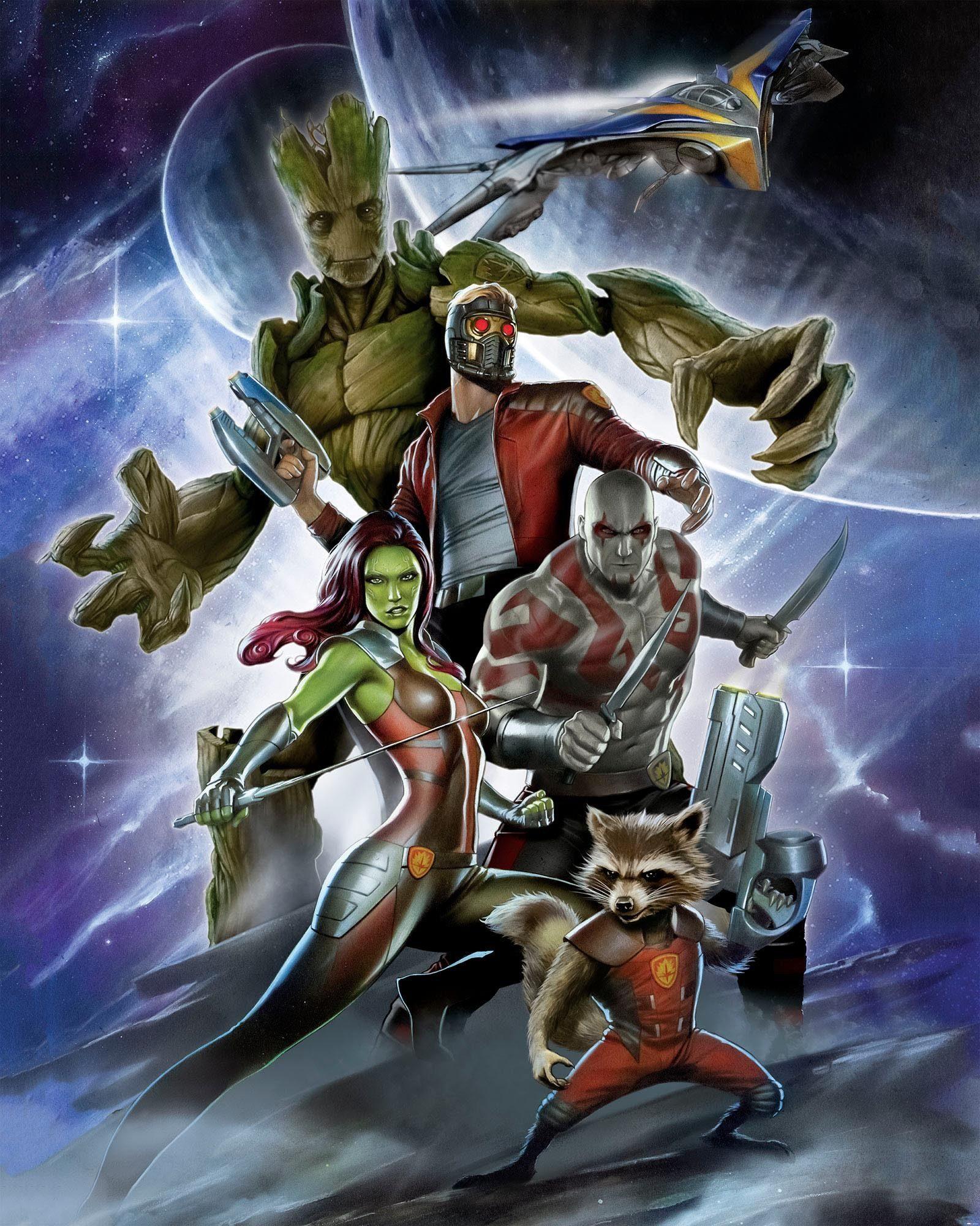 Komar Fototapete »Guardians of the Galaxy Crew«, 200/250 cm