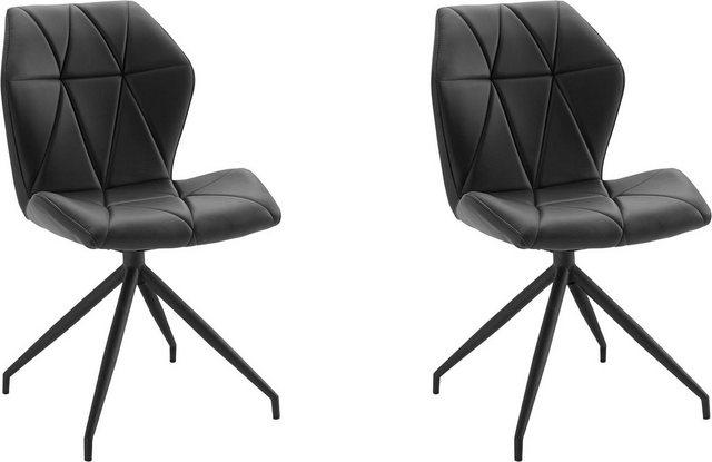 Stühle und Bänke - Homexperts Esszimmerstuhl »Indira« (Set, 2 Stück), mit Drehfunktion, Bezug in Kunstleder  - Onlineshop OTTO