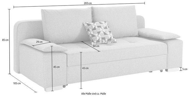 Sofas - COLLECTION AB Schlafsofa, mit Federkern, inklusive Bettfunktion und Bettkasten  - Onlineshop OTTO
