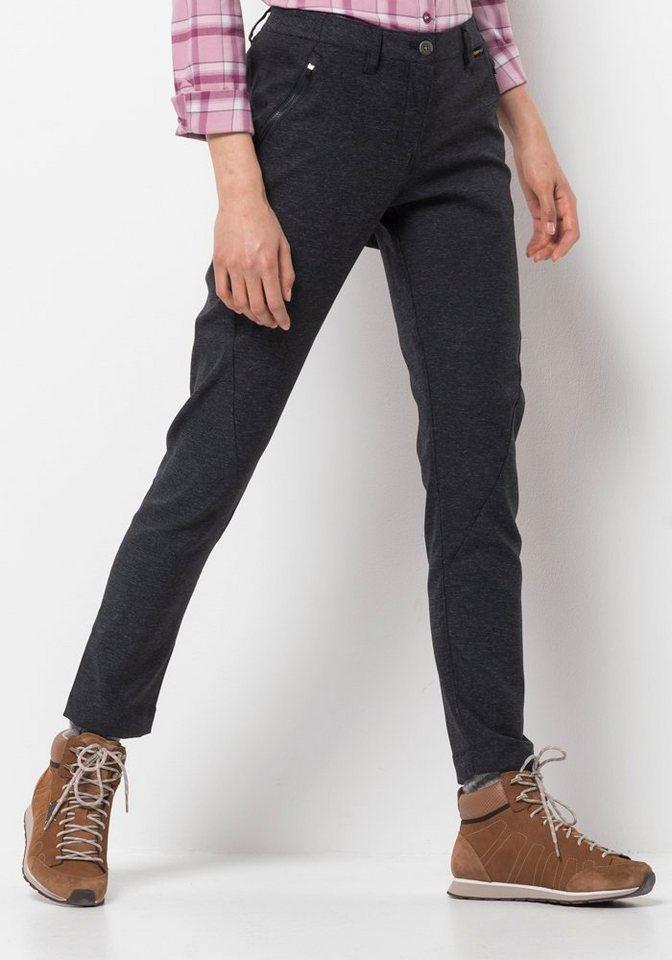 Herren Jack Wolfskin Outdoorhose »WINTER TRAVEL PANTS WOMEN« schwarz  Sport Damen lange Sporthosen normal-weit (Cargo-/Outdoorhosen)