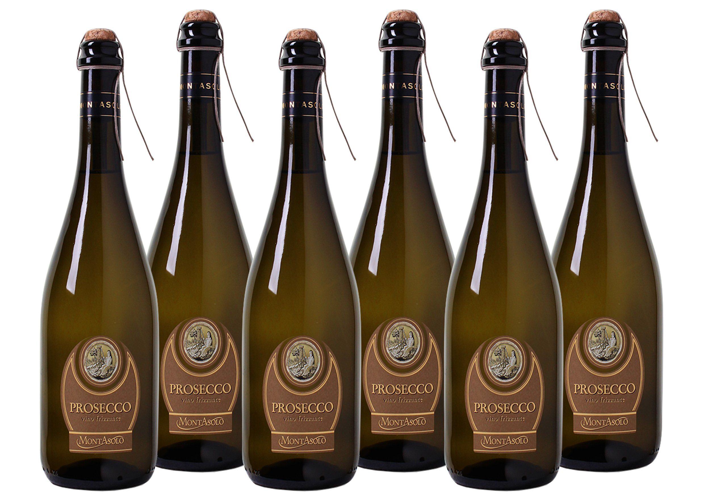 Schaumwein aus Italien »11,0% 6 x 0,75 Liter - MontAsolo«