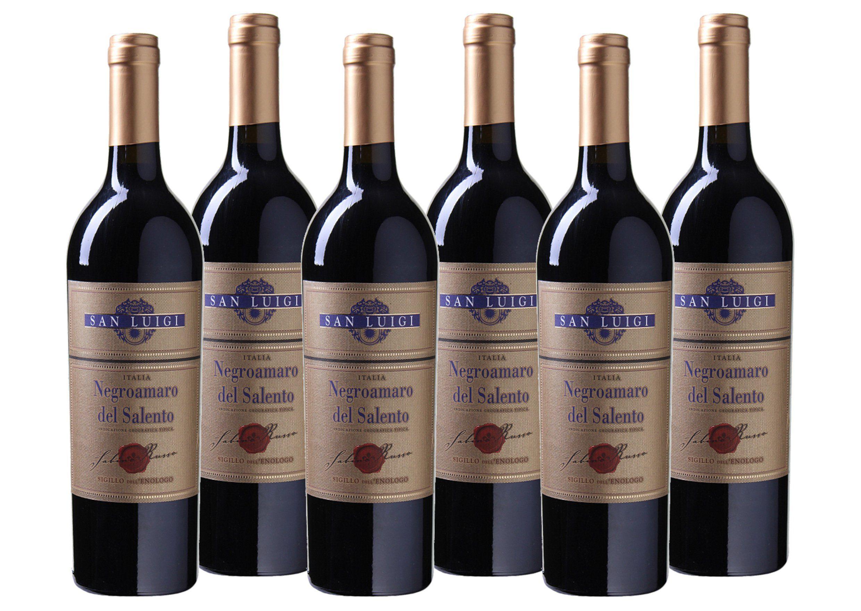 Rotwein aus Italien »13,5% 6 x 0,75 Liter - San Luigi 2017«