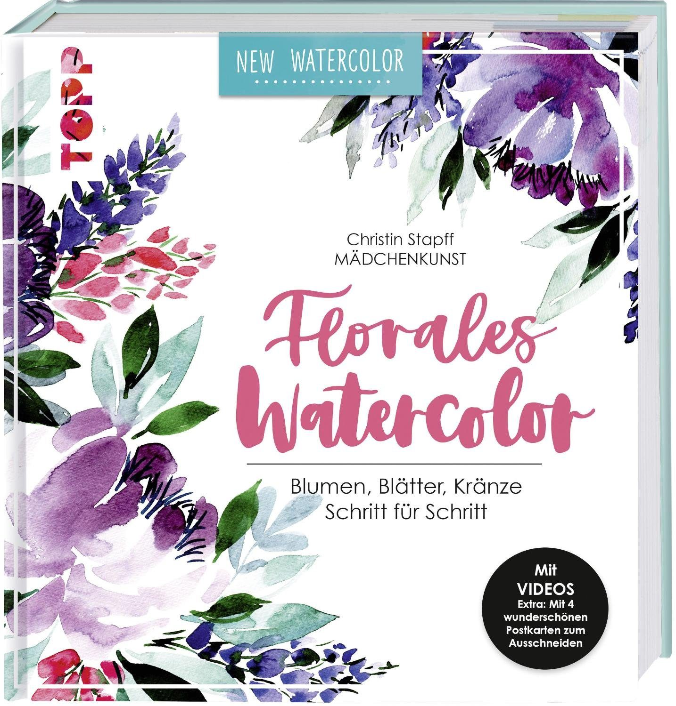 "Topp Buch ""Florales Watercolor"" 144 Seiten"