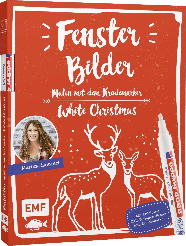 """EMF Buch """"Fensterbilder - White Christmas"""" 8 Seiten"""